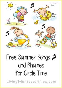 LOTS of YouTube videos and summer songs with lyrics for children at a variety of ages ... great for home or classroom