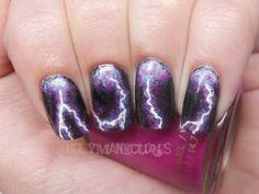 Holy Manicures: Lightning Storm Nails.