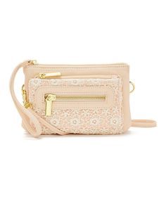 Loving this Blush Lace Crossbody Bag on #zulily! #zulilyfinds