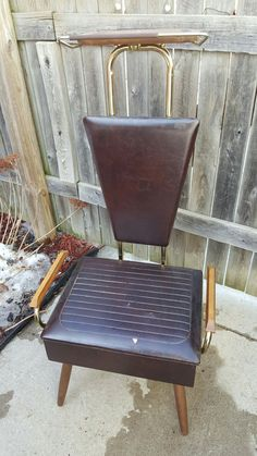 Vintage Mid Century Nova Products NY MCM Mens Suit Valet Chair Metal Chair Butler Wardrobe Clothes Hanger Drawer Organizer