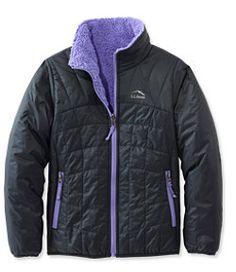 #LLBean: Girls' Mountain Bound Reversible Jacket