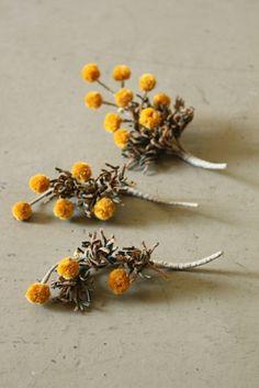 ミモザ コサージュ | Mimosa Corsage - Yellow | IRRE