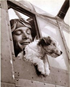 Men And Their Dogs — literarydogs: A fox terrier war dog.