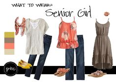 Peach Moon Photography: What to Wear : Senior Girl or Girls in Family Shot