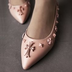 D80255 Kvoll Spring Fashion Rivet Ornament Pointed-toe Flattie Pink [D80255] - $24.25 : China,Korean,Japan Fashion clothing wholesale and Dropship online-Be the most beautiful Lady