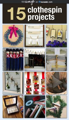 15 clothespin decor wins