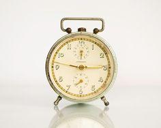 Vintage Alarm Clock JUNGHANS Old German Clock by ARoadThroughTime, $64.00