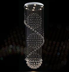 Siljoy Modern Rain Drop Crystal Chandelier Spiral Ceiling... https://www.amazon.com/dp/B072B85LB8/ref=cm_sw_r_pi_dp_x_-ixnzbWR04HY4
