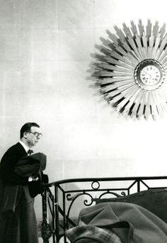 Cristóbal Balenciaga at his atelier in Paris, 1959