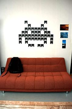 Space invaders repurposed floppy discs