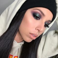 "•L•U•X• on Instagram: ""Makeups. @katvondbeauty Metal Matte palette, @urbandecaycosmetics Zodiac liquid moondust shadow + midnight cowboy heavy metal liner ⚡️"""