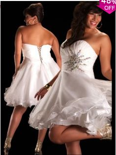 A-line Sweetheart Knee-length Chiffon White Prom Dresses #BUSA0245191 - See more at: http://www.avivadress.com/special-occasion-dresses/homecoming-dresses/plus-size-homecoming-dresses.html#sthash.u61VF3Gd.dpuf