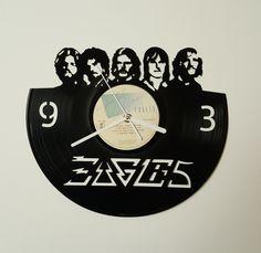 Eagles band clock, Hotel California, Wall clock, vinyl record clock, vinyl clock