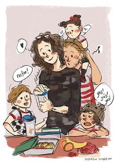 Larry Stylinson, Louis Tomlinson, Mamamoo, Desenhos One Direction, One Direction Art, Larry Shippers, Harry Styles Photos, Kids Up, Louis And Harry