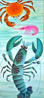 Lobster, shrimp and crab by Alain Gree