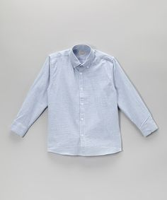 6f0392eca72 Love this Pennymeade Blue Stripe Button-Up - Infant