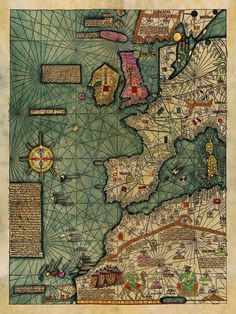 Medieval #Map, All Kingdoms of the #World, Catalan Atlas…