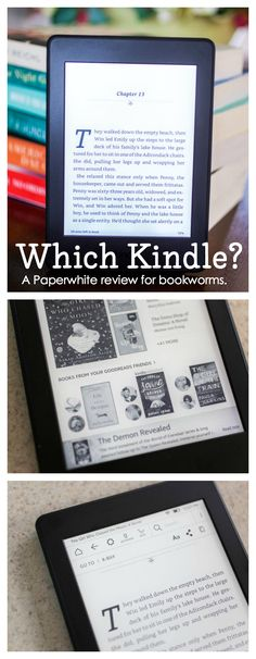 A Kindle Paperwhite