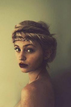 Girl hair hipster.
