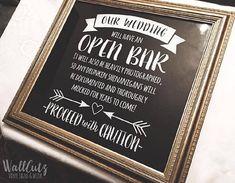 SVG wedding sign  / Open Bar wedding sign / wedding shenanigans / Cricut Open Bar / Wedding digital file / wedding bar sign / png eps