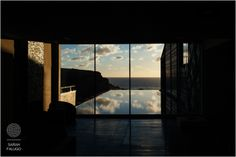 Taken by one of our amazing wedding photographers, Sarah Falugo, #sunset from the hotel reception window