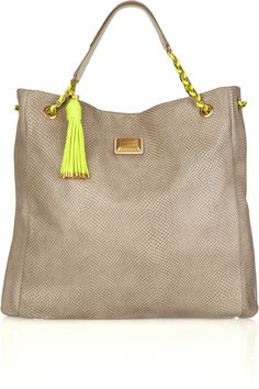 MARC BY MARC snakeskin-embossed leather goodness.  Note the neon flare!