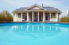 Koti Aurorassa: takapihan uima-allas. #kannustalo #terassi #uimaallas