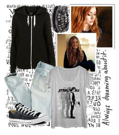 """""""Star Wars"""" by bia-dreamy on Polyvore featuring American Eagle Outfitters, Roberto Coin, Converse and Pieces"""