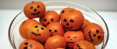 La clémentine, un aliment-bonbon qui peut se transformer en citrouilles... mais où est le chat et attention aux fantômes. Hououououou...!!!