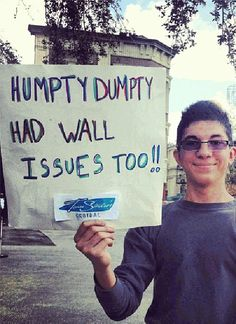 25 Funniest Running Signs At A Race: Humpty Dumpty had wall issues too. Running Signs, Running Posters, Running Memes, Running Quotes, Running Motivation, Running Workouts, Funny Running, Trail Running, Motivation Boards