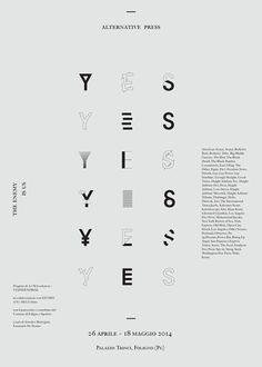 visualgraphc:  Yes Yes Yes Alternative Poster by Giovanni Murolo...