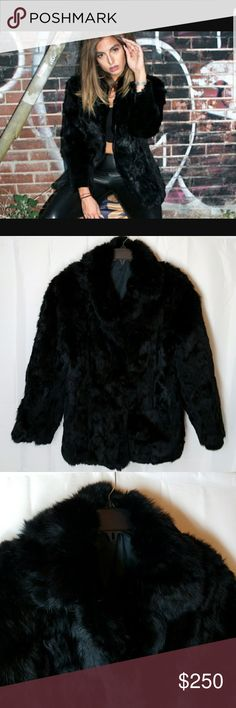 Vintage Somerset Fur Smooth & Silky Collar Rabbit fur All black fur Excellent condition  Has 3 latch and hook button 2side pockets. There is some wear inside the pockets see last pic  100% Rabbit Fur the lining is 100% Somerset Furs Jackets & Coats