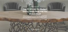 A lot of really good articles have been posted here since the blog was released, and our editors' team has made a roundup of some of the best articles. Bellow you can review the Top 10 articles on Modern Dining Tables Blog that you should read. Check them out! ➤ Discover the season's newest designs and inspirations. Visit us at  www.moderndiningtables.net #diningtables #homedecorideas #diningroomideas @ModDiningTables