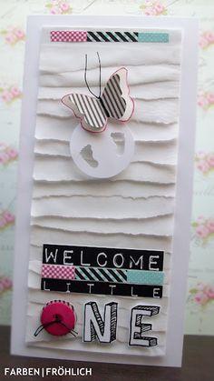 F A R B EN : F R Ö H L I CH: Babykarte mal ein bißchen anders...