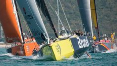 February 07, 2015. Team Vestas Wind In-Port Race: Team Brunel, Team Alvimedica and Abu Dhabi Ocean Racing - Victor Fraile / Volvo Ocean Race