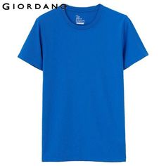Men Solid Crewneck T-shirt Short Sleeve T-shirts Male Casual 100% Cotton T-shirt For Men