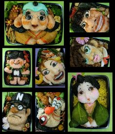 If I spent this much time on a Bento I'm not sure I'd want anyone to eat it!