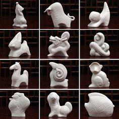 Clearance specials genuine 12 zodiac animal ornaments handmade of white porcelain of Dehua ceramics sculpture art collection