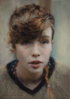 Ella By Luca Indraccolo Oil On Canvas