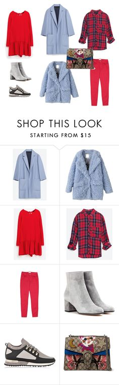 fw17 by tata88 on Polyvore featuring мода, Zara, Gianvito Rossi and Gucci