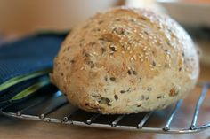This seed bread is healthy but addictive. If you plan ahead it doesn't take up much of your time. Perfect recipe for busy people with slow-food palates.