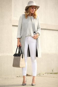 intermix vest, theory sweater, paige denim, manolo blahnik shoes, tiffany & co handbag and hat attack hat.