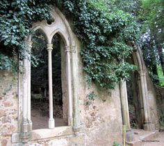 A 19th century folly in the old palace grounds, Quinta das Lagrimas, Coimbra, Portugal