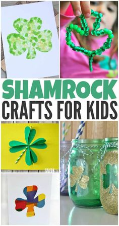 Shamrock Crafts for Kids to Make this St. Patrick's Day These fun and festive shamrock crafts for kids will help get the whole family ready for St. Patrick's Day this year. Saint Patricks Day Art, St Patricks Day Crafts For Kids, St Patrick's Day Crafts, Crafts For Kids To Make, Craft Activities For Kids, Projects For Kids, Holiday Crafts, Fun Crafts, Diy And Crafts