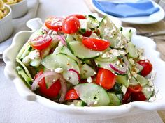 Cucumber, Tomato + Feta Salad