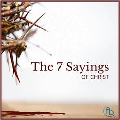 The Seven Sayings of Jesus from the Cross are a wonderful commentary in His own words of Forgiveness Salvation Love Atonement Suffering Victory and Security. Read more on the blog http://ift.tt/2osXfuY LINK IN BIO . . . #BixbyOklahoma #BixbyOK #TulsaOK #FBCBixby #Bible #votd #Peace #Hope #Grace #Love #Forgiveness #Church #Worship #Family #VerseOfTheDay #SouthTulsa #SouthTulsaOK #Prayer #BibleStudy #JesusChrist #Christian #Tulsa_Oklahoma #Faith #Easter #Suffering #Forgiveness #Atonement #Joy