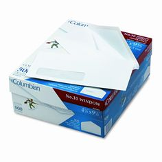 Poly-Klear Single Window Envelopes, #10, White, 500/box