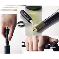 presión de aire de tipo botella de vino abridor con cuchillo lámina cortadora