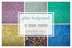 Glittery Background Style Stock in 12 different colors! So pretty and perfect for growing businesses to use with text overlayed!
