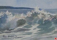 Surf Patterns, Daily Painting by Poppy Balser Watercolor ~ 5 x 7 Ocean Wave Painting, Watercolor Beginner, Watercolor Ocean, Ocean Art, Watercolor Painting Techniques, Watercolor Landscape Paintings, Seascape Paintings, Beautiful Paintings Of Nature, Seafarer